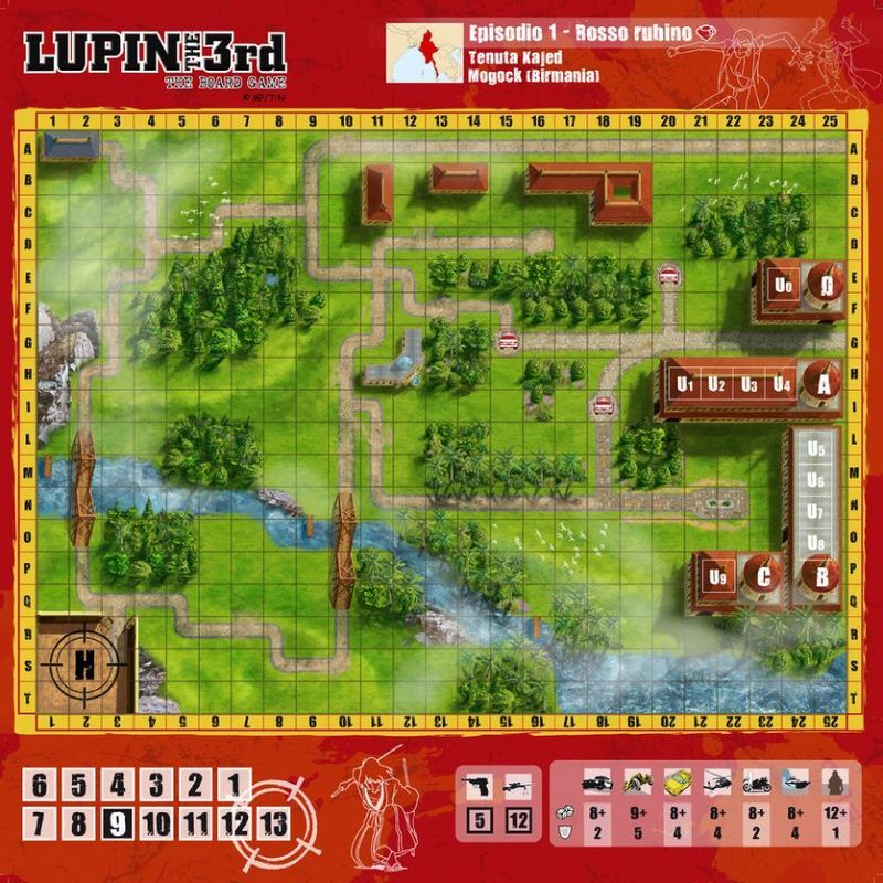 Lupin the Third - The Boardgame game board