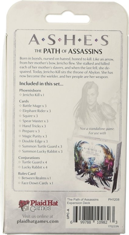 Ashes: The Path of Assassins back of the box