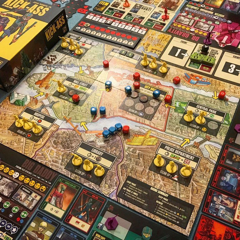 Kick-Ass: The Board Game gameplay