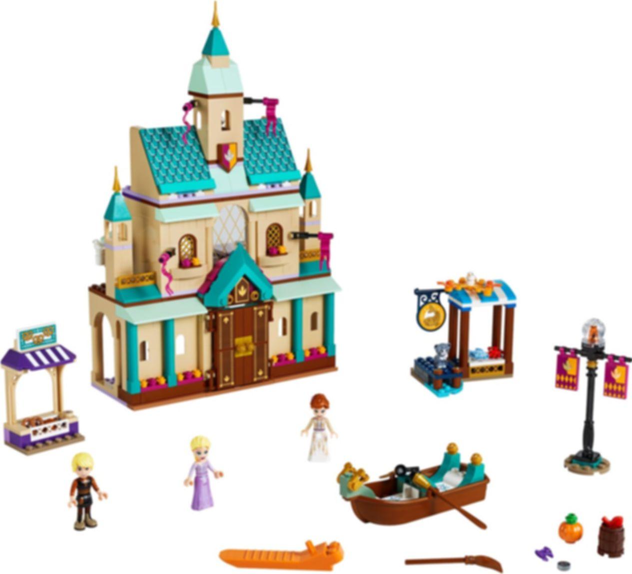 LEGO® Disney Arendelle Castle Village components