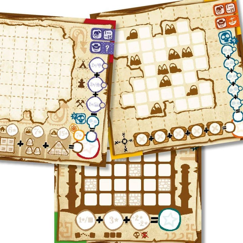Penny Papers Adventures: Skull Island game board
