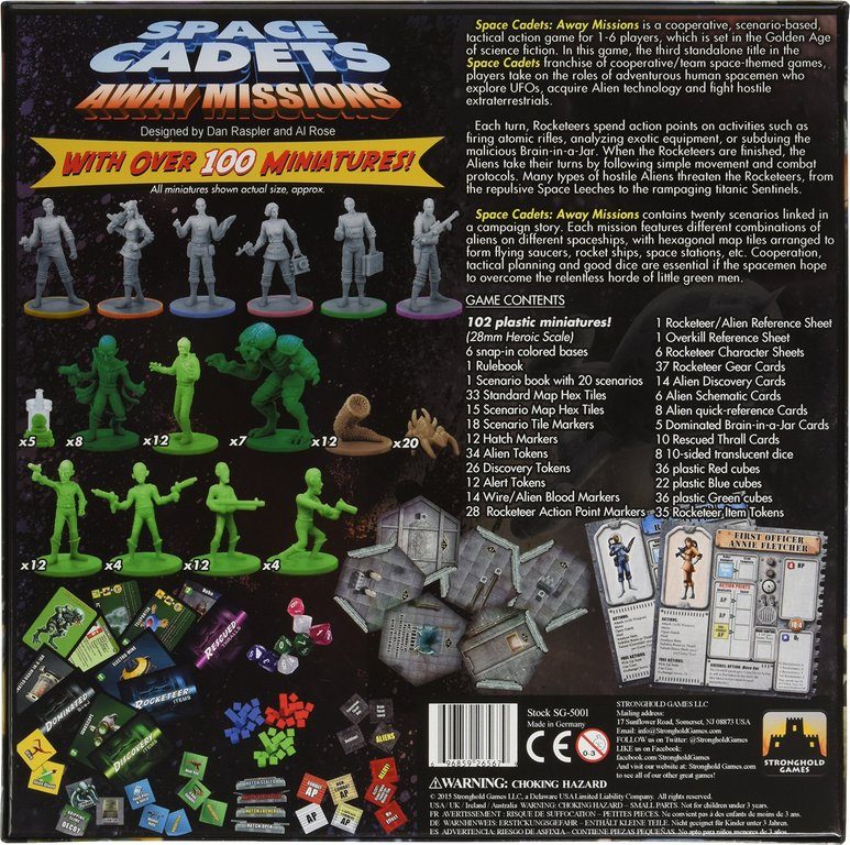 Space Cadets: Away Missions back of the box