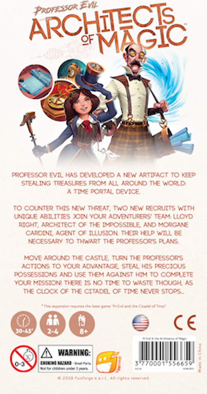 Professor Evil: Architects of Magic back of the box