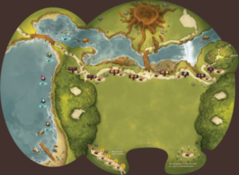 Everdell: Pearlbrook game board