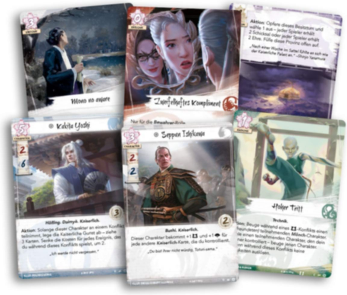 Legend of the Five Rings: The Card Game - Meditations on the Ephemeral cards