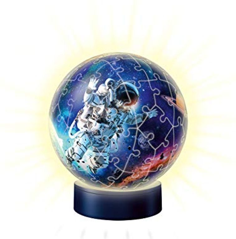 Night Light Puzzle Ball Astronauts in Space components