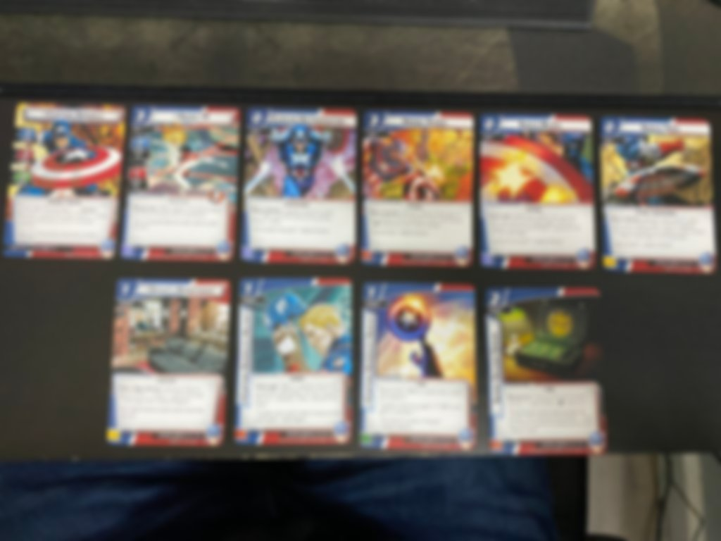 Marvel Champions: The Card Game - Captain America Hero Pack cards