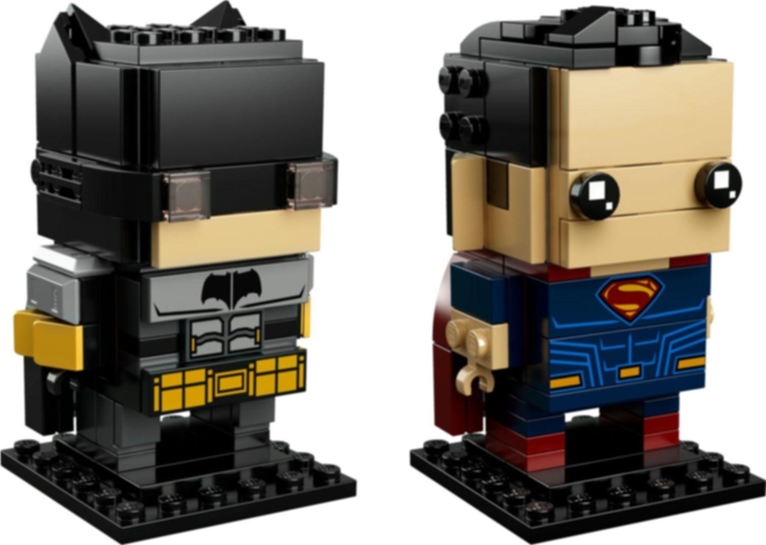 LEGO® BrickHeadz™ Tactical Batman™ & Superman™ components