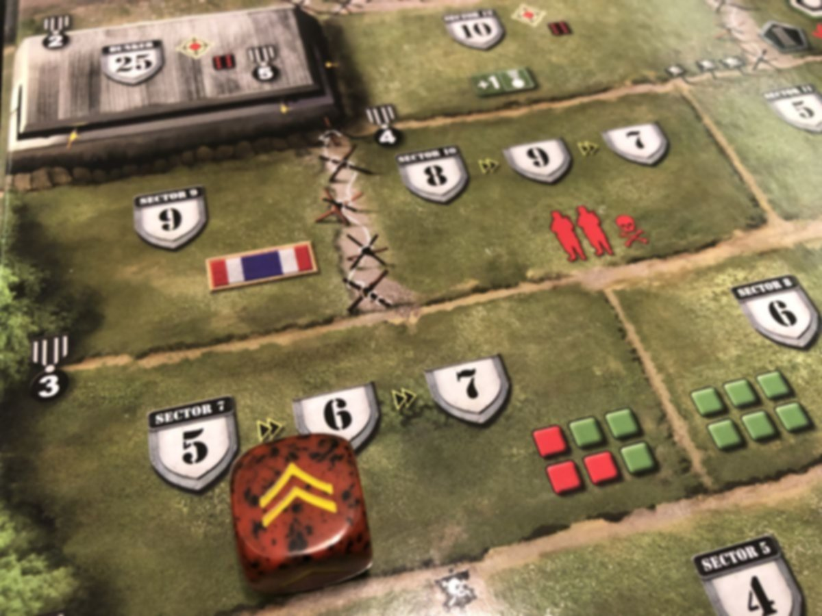D-Day Dice: 2nd Edition gameplay