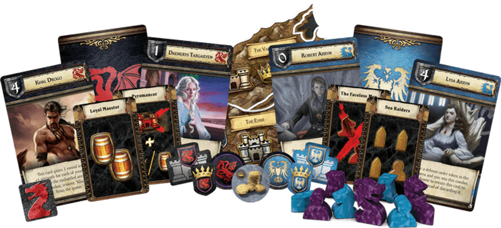 A Game of Thrones: The Board Game (Second Edition) - Mother of Dragons components