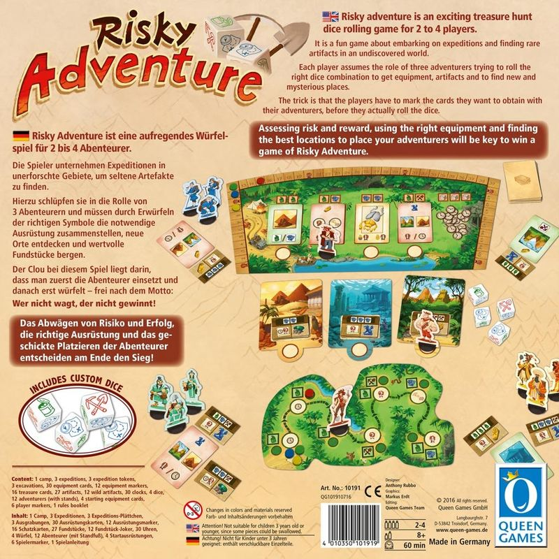 Risky Adventure back of the box