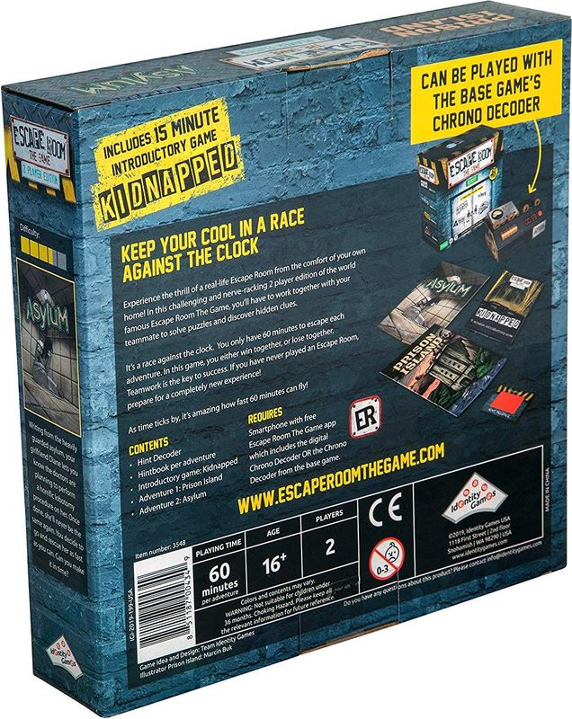 Escape Room: The Game - 2 Players back of the box