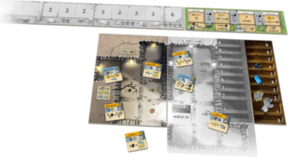 Caverna: Cave vs Cave - Era II: The Iron Age components