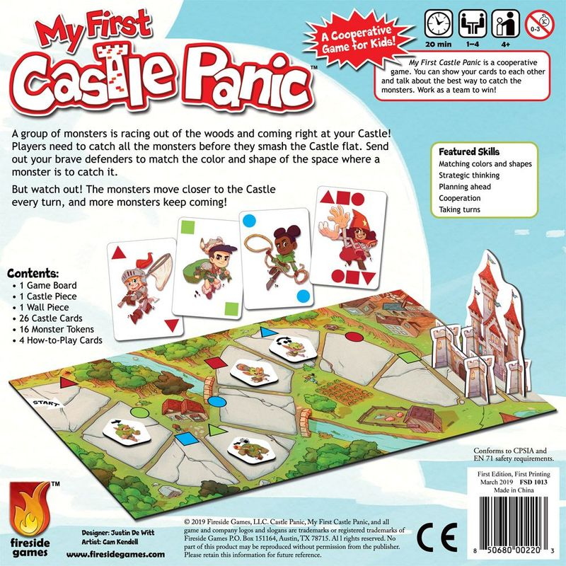 My First Castle Panic back of the box