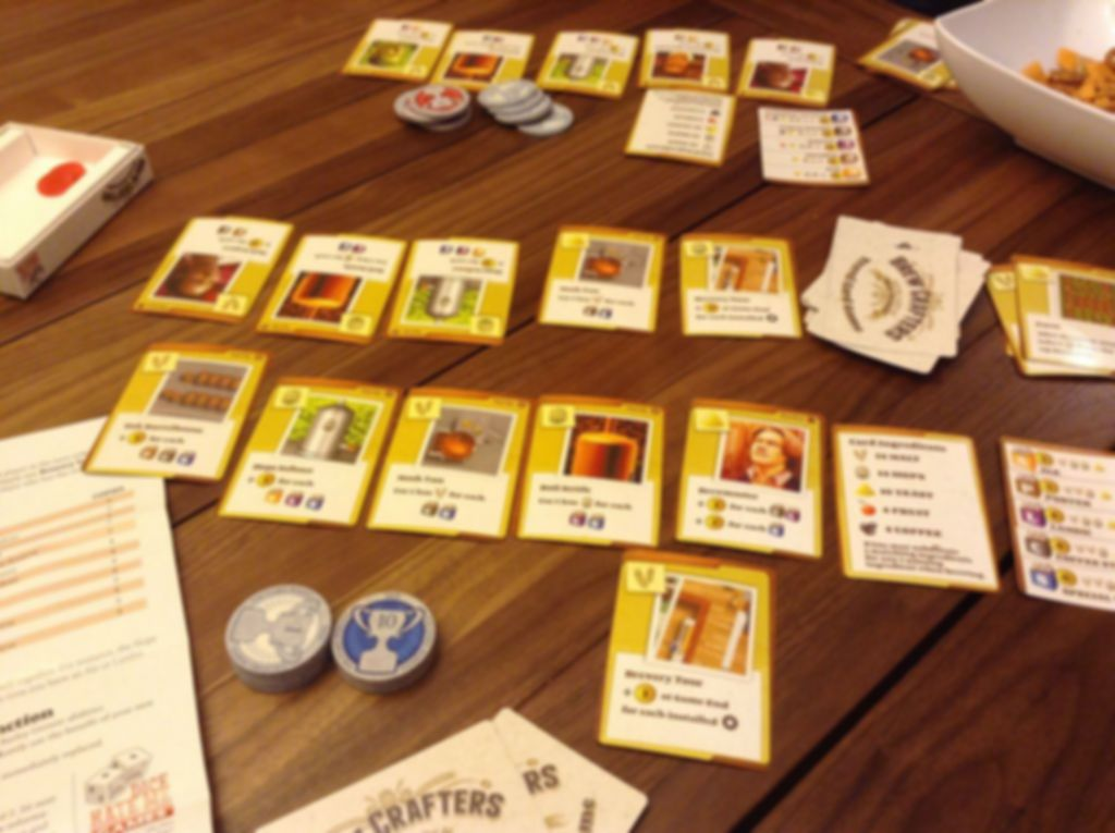 Brew Crafters: Travel Card Game components