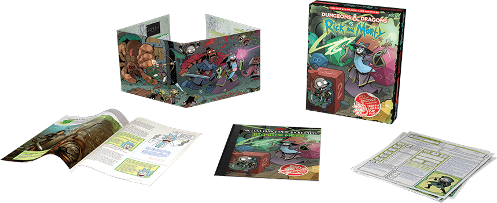 Dungeons & Dragons vs. Rick and Morty components