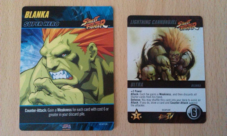 CapCom Street Fighter Deck-Building Game cards