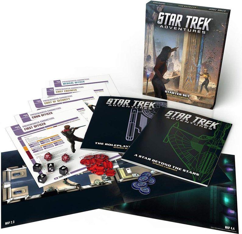 Star Trek Adventures RPG: Starter Set components