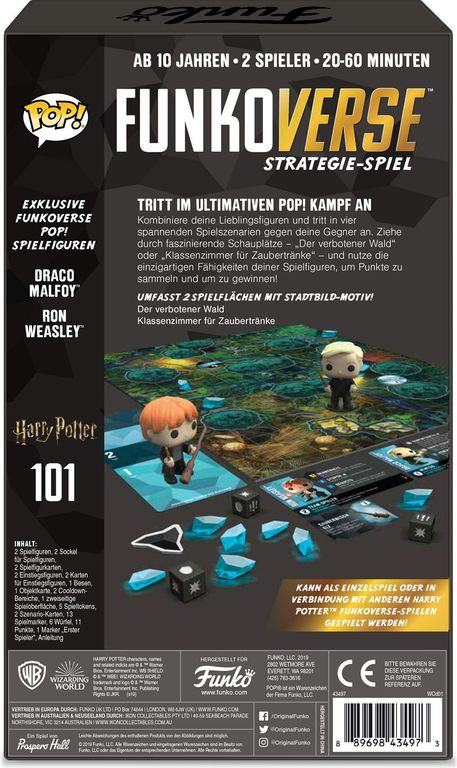 Funkoverse Strategy Game: Harry Potter 101 back of the box