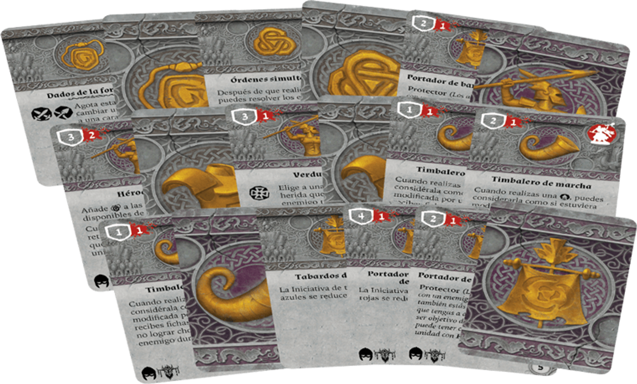Runewars Miniatures Game: Waiqar Infantry Command - Unit Upgrade Expansion cards