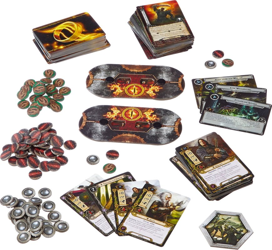 The Lord of the Rings: The Card Game components