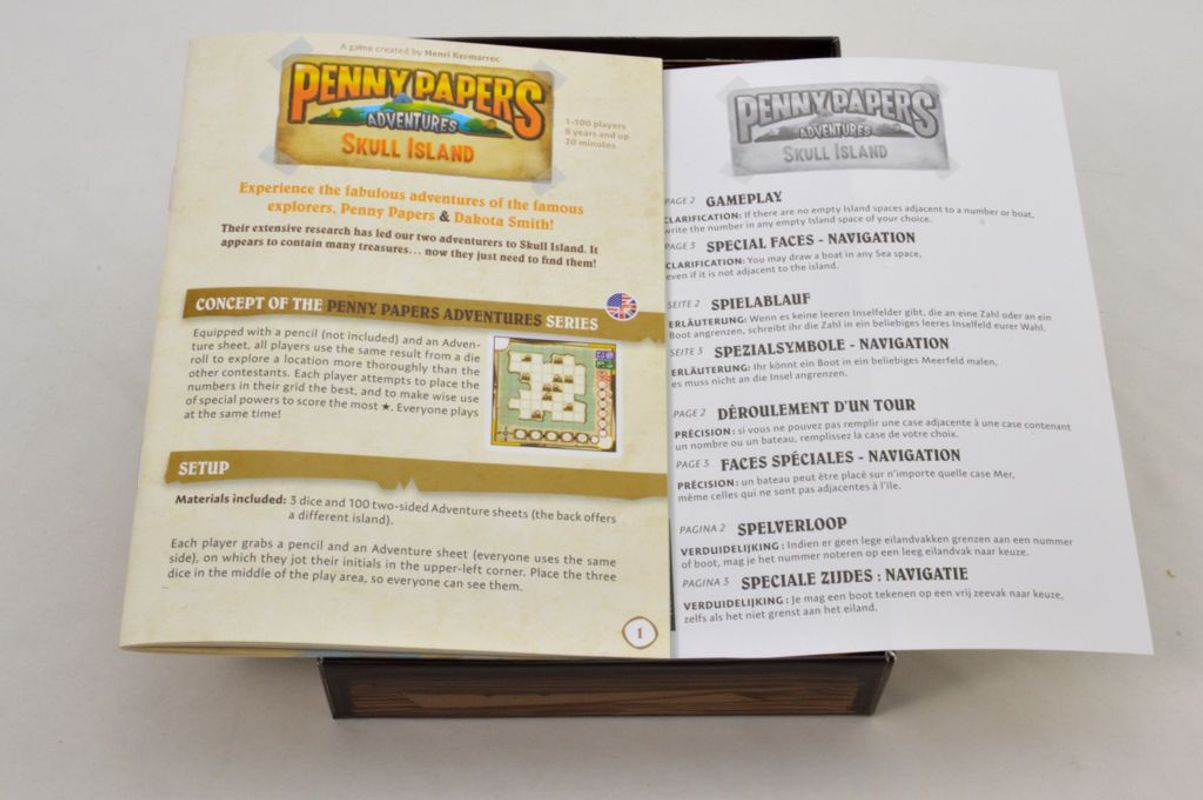 Penny Papers Adventures: Skull Island manual