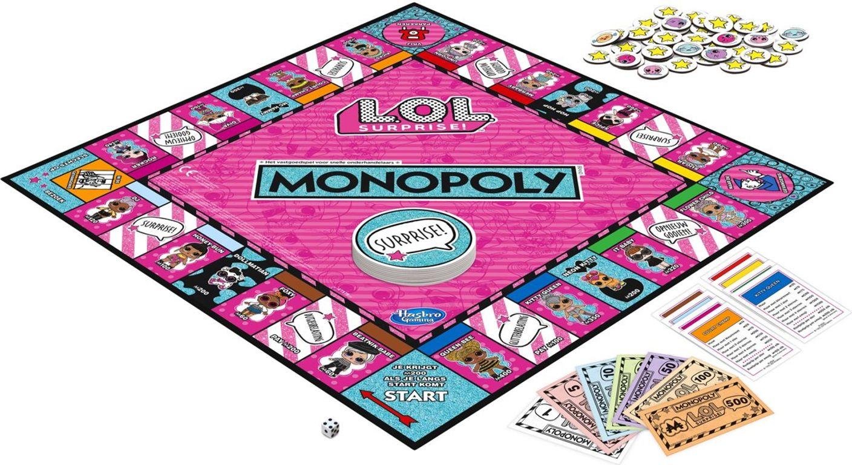 Monopoly L.O.L. Surprise! components