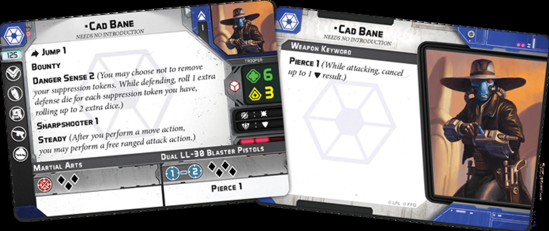 Star Wars: Legion - Cad Bane Operative Expansion cards