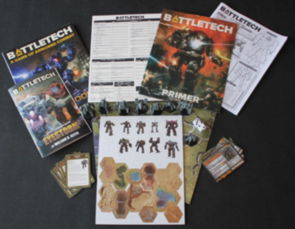 BattleTech: A Game of Armored Combat components