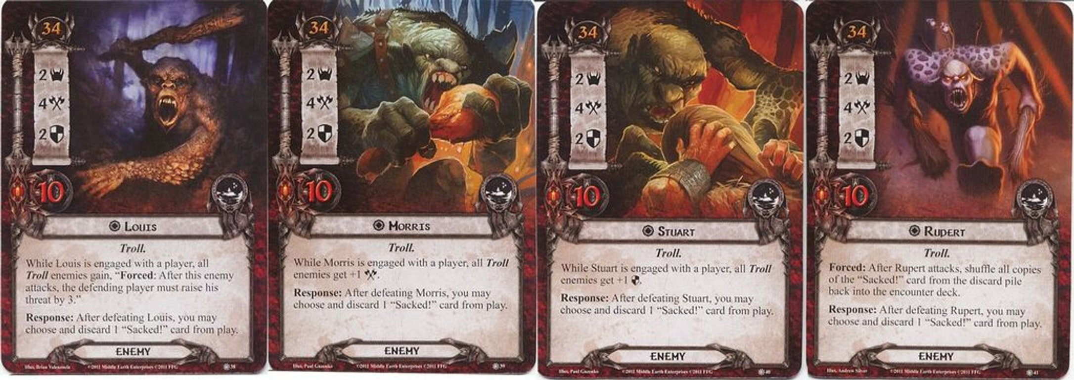 The Lord of the Rings: The Card Game - Conflict at the Carrock cards