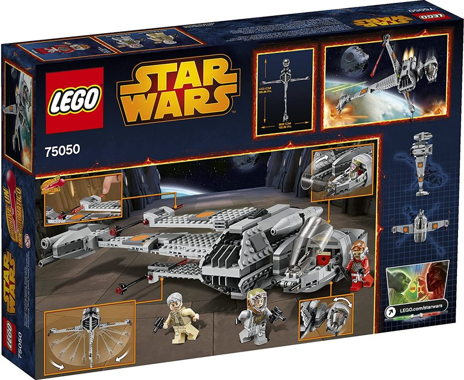 LEGO® Star Wars B-Wing back of the box