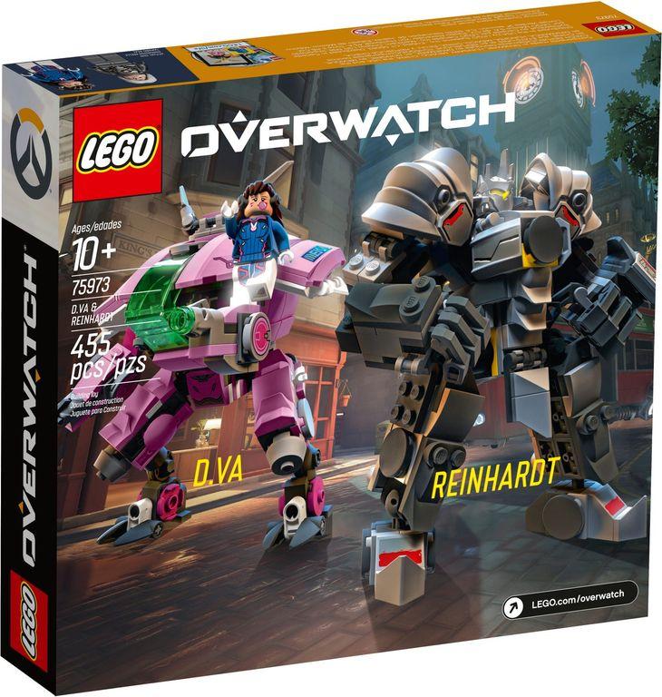 LEGO® Overwatch D.Va & Reinhardt back of the box