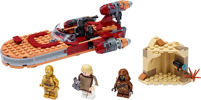 LEGO® Star Wars Luke Skywalker's Landspeeder™ components