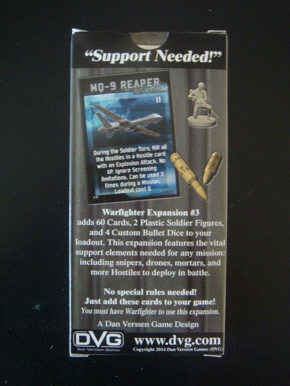 Warfighter Expansion #3: Support back of the box
