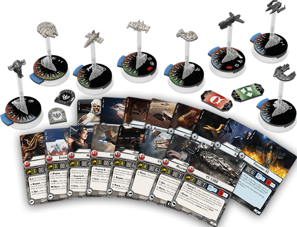 Star Wars: Armada - Rogues and Villains Expansion Pack components