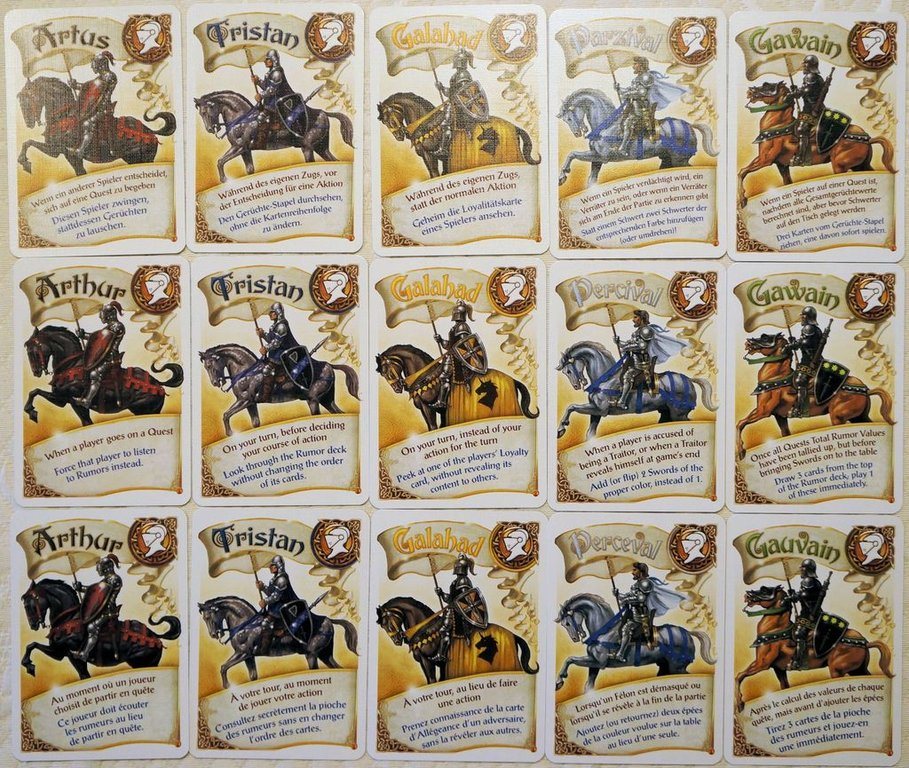 Shadows over Camelot: The Card Game cards