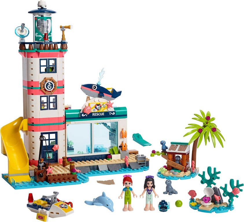 LEGO® Friends Lighthouse Rescue Center components