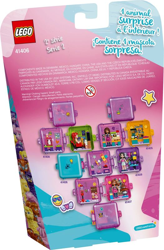 LEGO® Friends Stephanie's Shopping Play Cube back of the box