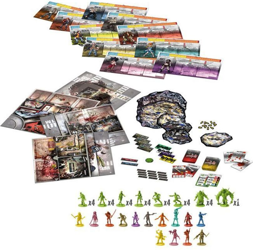 Zombicide: Toxic City Mall components