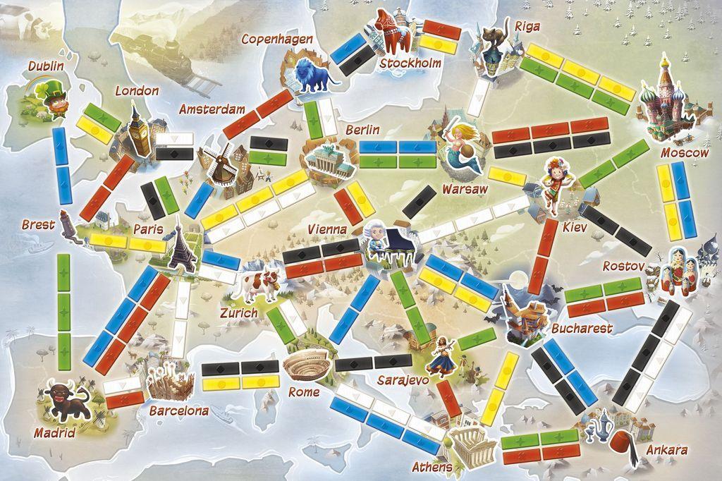 Ticket to Ride: Mijn Eerste Reis spelbord