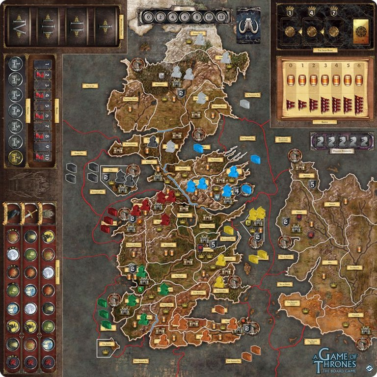 A Game of Thrones: The Board Game (Second Edition) - Mother of Dragons game board