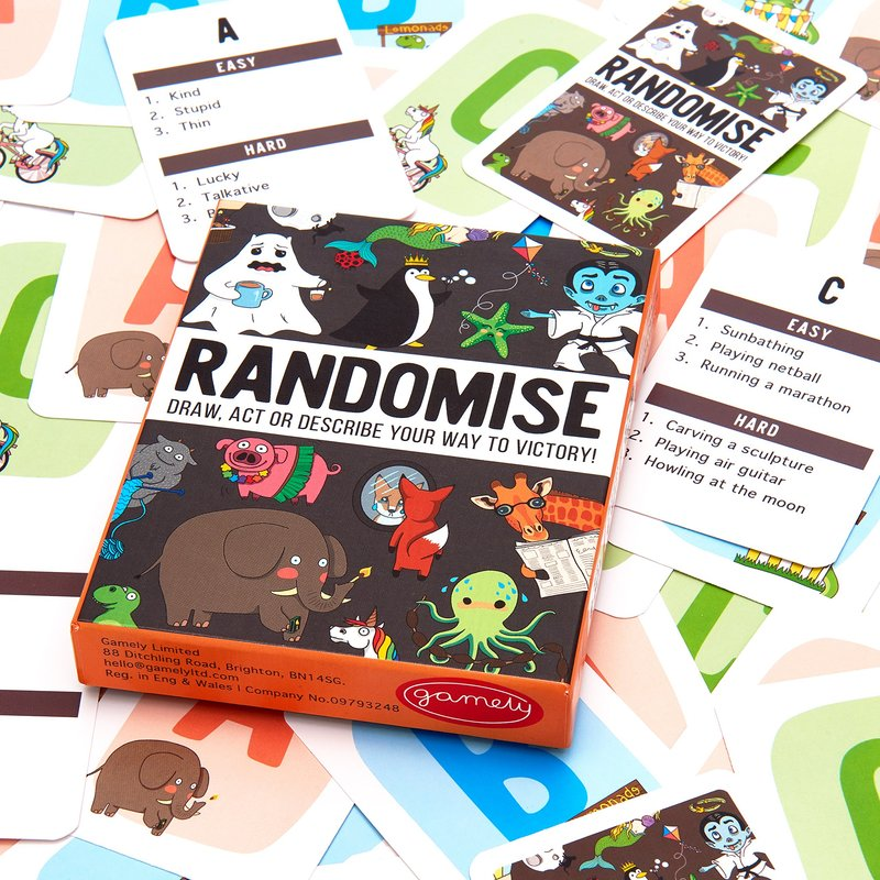 RANDOMISE: Draw, act or describe your way to victory components