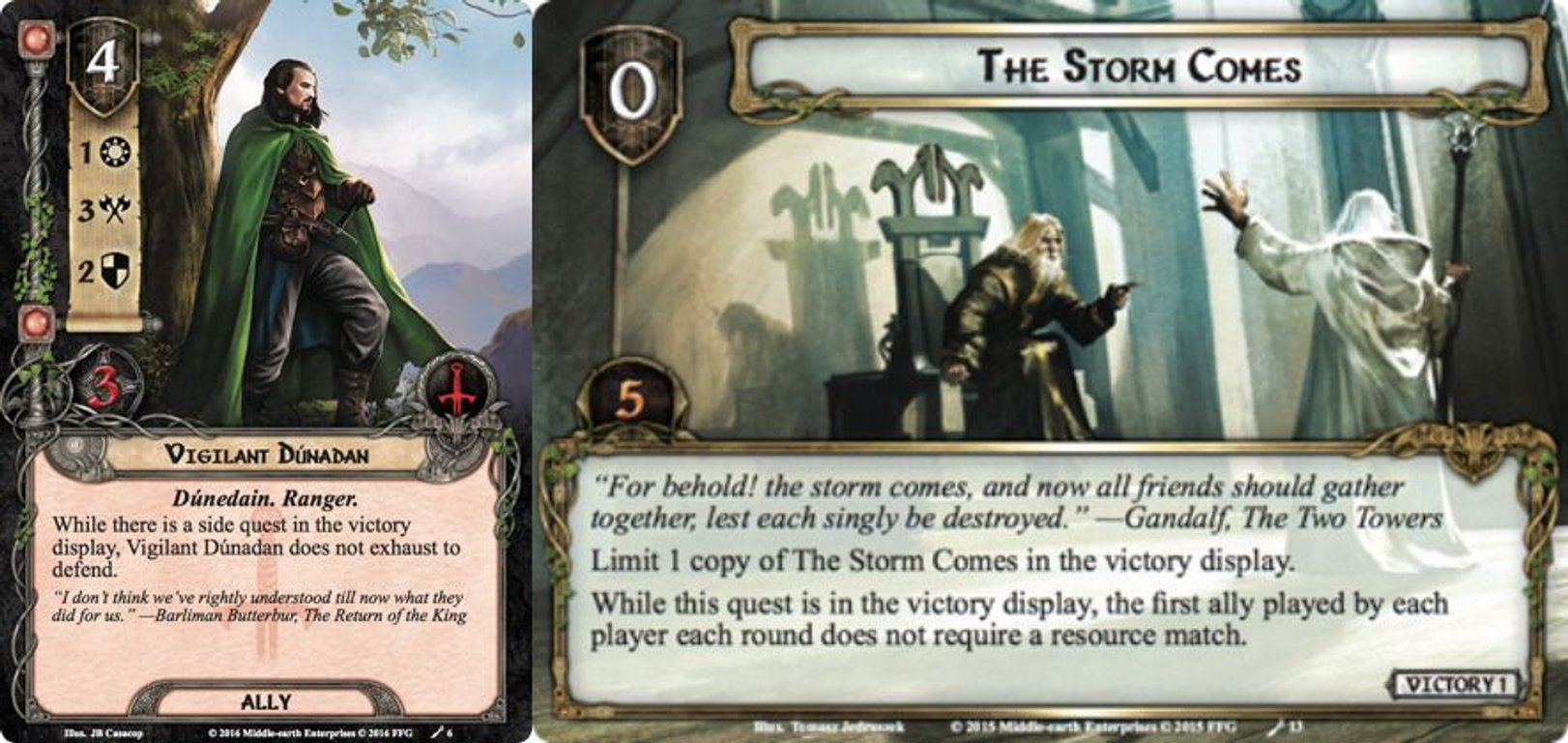 The Lord of the Rings: The Card Game - The Sands of Harad cards