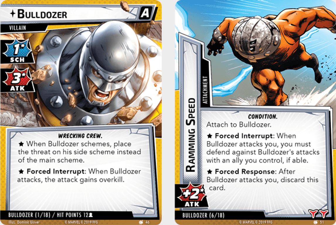 Marvel Champions: The Card Game – The Wrecking Crew Scenario Pack cards