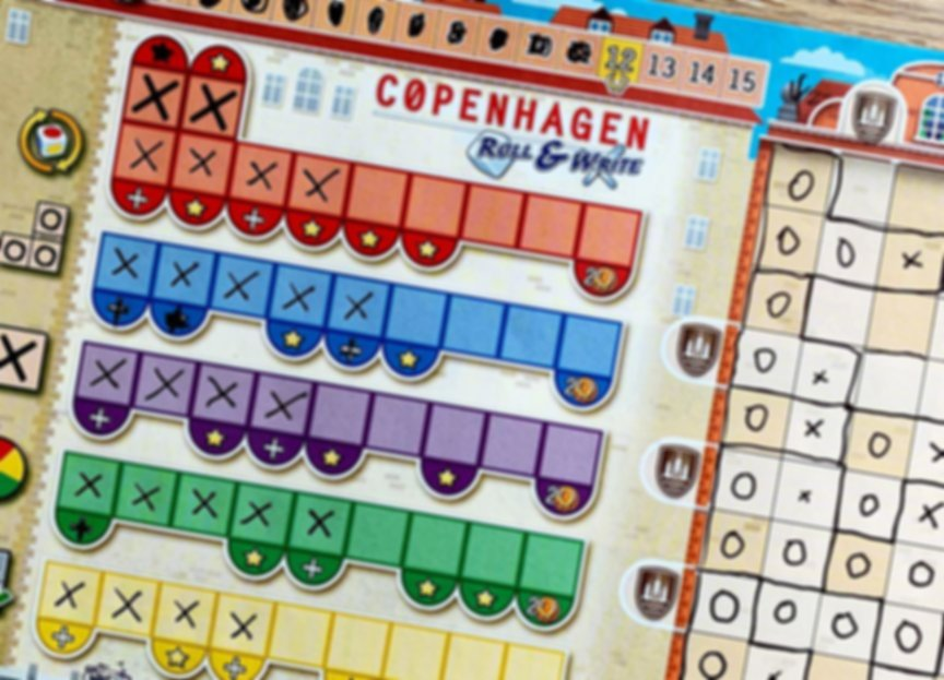 Copenhagen: Roll & Write gameplay