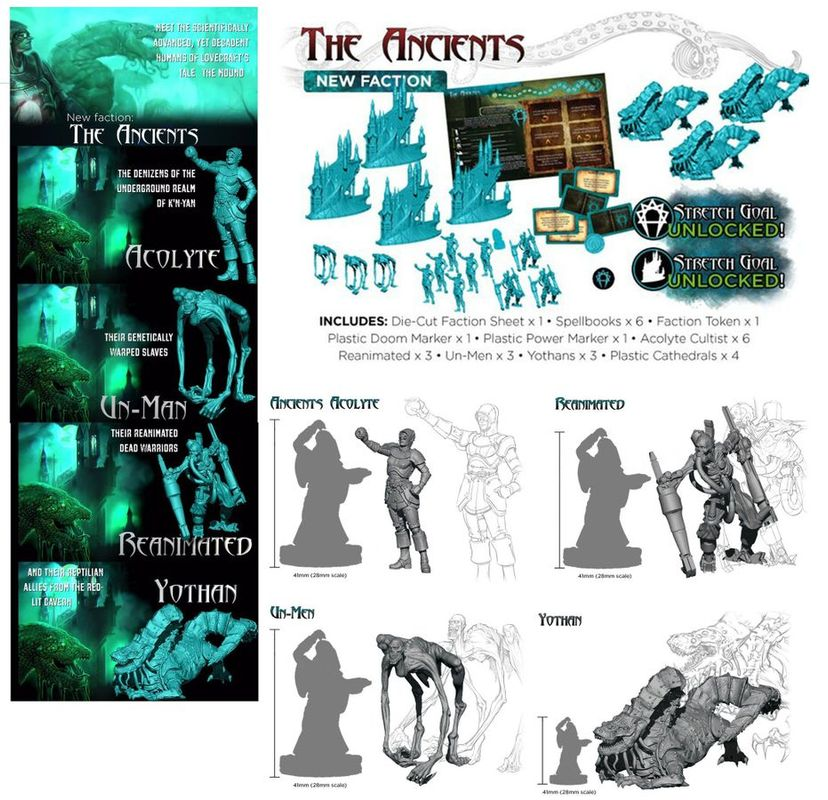 Cthulhu Wars: Ancients components
