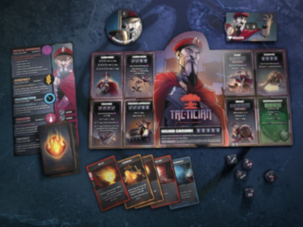 Dice Throne: Season Two - Tactician v. Huntress components