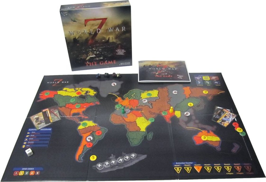World War Z: The Game components