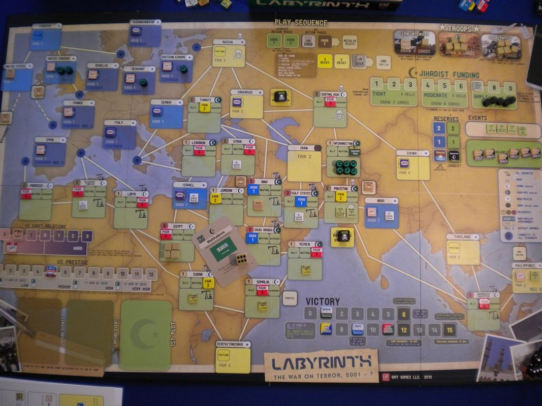 Labyrinth: The War on Terror, 2001 - ? game board