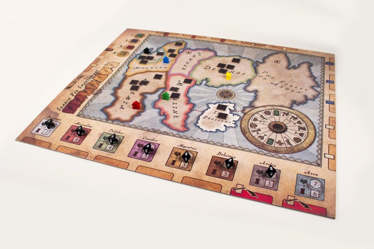 Kill Shakespeare game board